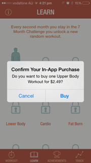 mobile apps in-app purchases