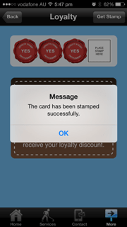 mobile app loyalty card