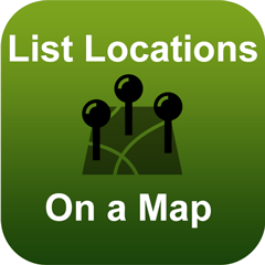 app list locations on a map