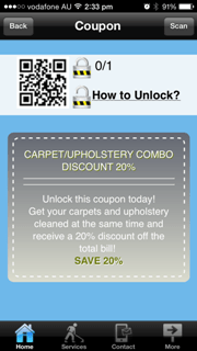 mobile app coupon locked
