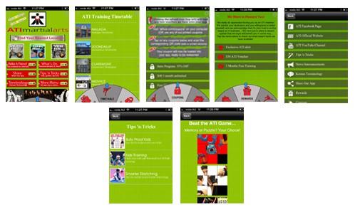 ati mobile app screenshots